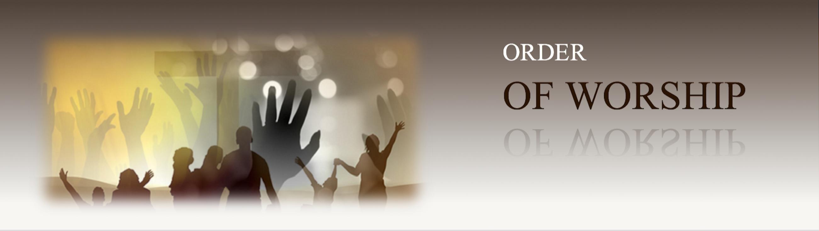 Image result for order of worship banner
